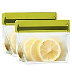 BlueAvocado® (re)zip™ 2-Piece 1-Cup Reusable Snack Bags in Moss