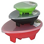 Guacamole Bowls with Lids (Set of 3)