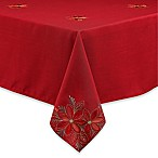 Poinsettia Filigree 60-Inch x 84-Inch Oblong Tablecloth
