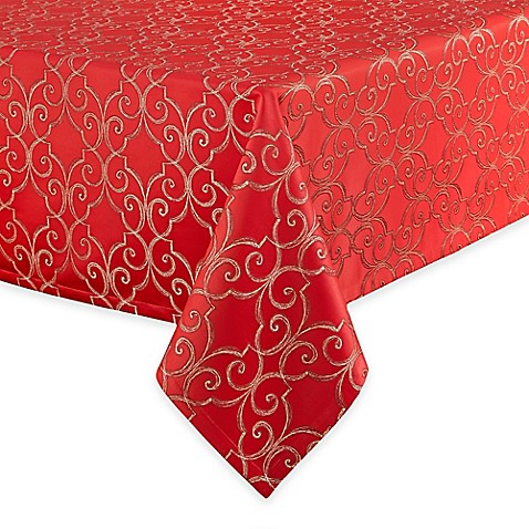Buy waterford linens sorelle 52 inch x 70 inch oblong for Table runners 52 inches