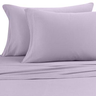 pure beech jersey knit modal queen sheet set in lavender