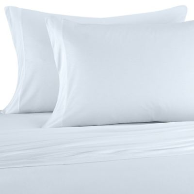 Buy blue silk bed sheets from bed bath beyond for Silk sheets queen bed bath beyond