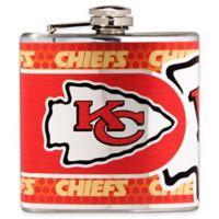 NFL Kansas City Chiefs Stainless Steel Metallic Hip Flask