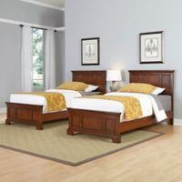 Home Styles Chesapeake 3-Piece Twin Beds and Nightstand Set in Cherry