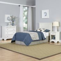 Home Styles Naples 3-Piece Twin Headboard, Nightstand and Chest Drawer Set in White