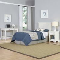 Home Styles Naples 3-Piece Twin Headboard, Nightstand and Student Desk Set in White