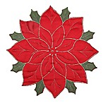 Quilted Poinsettia Placemat in Red