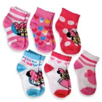 Disney® Size 2-4T 6-Pack Minnie Mouse Socks in Assorted Designs