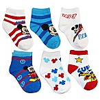 Disney® Size 2-4T 6-Pack Mickey Mouse Socks in Assorted Designs