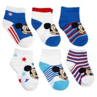 Disney® Size 6-12M 6-Pack Mickey Mouse Socks in Assorted Designs