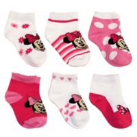Disney® Size 6-12M 6-Pack Minnie Mouse Socks in Assorted Designs