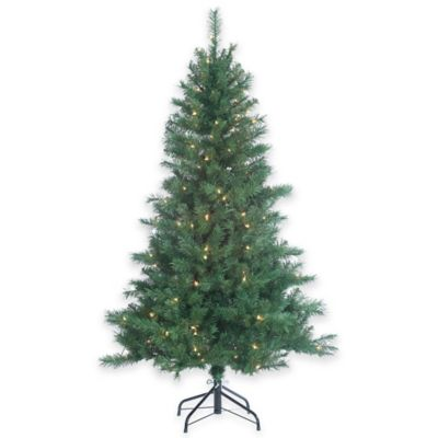 5 foot pre lit colorado spruce christmas tree with clear lights - 5 Foot Christmas Tree