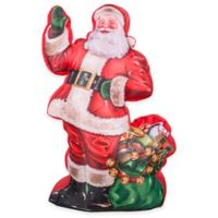 7-Foot Photorealistic Inflatable Outdoor Santa with Toy Bag Holiday Lawn Ornament