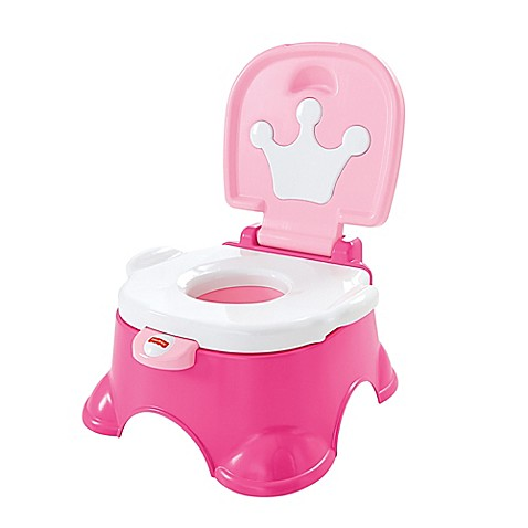 Fisher price 174 pink princess royal stepstool potty in pink buybuy