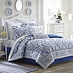 Laura Ashley® Charlotte Queen Comforter Set in China Blue