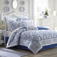 Laura Ashley® Charlotte Full Comforter Set in China Blue