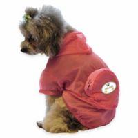 Thunder Paw Extra Large Waterproof Adjustable Zippered Folding Travel Dog Raincoat in Pink