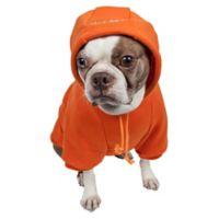 Fashion Plush Extra Small Cotton Pet Hoodie in Orange