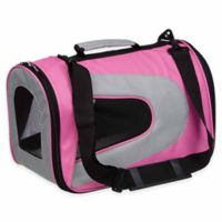 Airline Approved Sporty Folding Zippered Mesh Large Pet Carrier in Pink