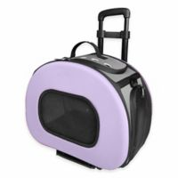 Tough-Shell Wheeled Collapsible Pet Carrier in Purple