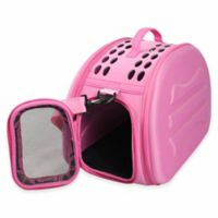 Narrow Shell Lightweight Collapsible Pet Carrier in Pink