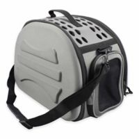 Narrow Shell Lightweight Collapsible Pet Carrier in Dark Grey