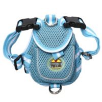 Adjustable Mesh Large Pet Harness with Reflective Trim in Blue