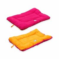 Touchdog® Performance-Max Sporty Comfort Cushioned Medium Dog Bed in Pink/Orange