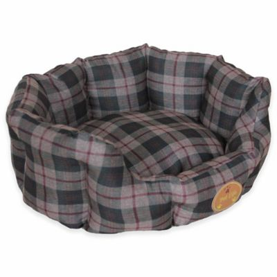 nanosilver and extra small circular dog bed in green - Raised Dog Beds