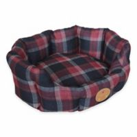 Nano-Silver and Antibacterial Small Circular Dog Bed in Red/Blue