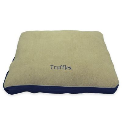 four season jamison large pet bed in khakiblue