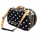 Fashion Dotted Narrow Shell Perforated Collapsible Pet Carrier in Navy