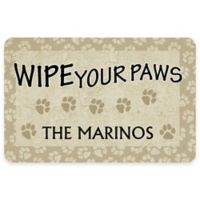 """Weather Guard™ """"18-Inch x 27-Inch Wipe Your Paws"""" Pet Mat"""