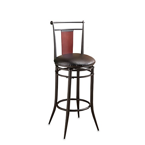 Hillsdale Manhattan Swivel Stool In Black Bed Bath Amp Beyond