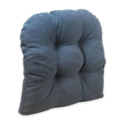 Klear Vu Universal Extra Large Woven Gripper Chair Pad In Blue Stone