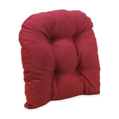 Klear Vu Universal Extra Large Woven Gripper Chair Pad In Red