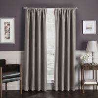 Sebastian 63-Inch Rod Pocket Insulated Total Blackout Window Curtain Panel in Mocha