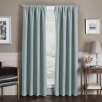 Sebastian 63-Inch Rod Pocket Insulated Total Blackout Window Curtain Panel in Blue