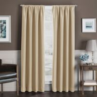 Sebastian 63-Inch Rod Pocket Insulated Total Blackout Window Curtain Panel in Gold