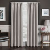 Sebastian 63-Inch Rod Pocket Insulated Total Blackout Window Curtain Panel in Natural