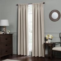 Emery 108-Inch Rod Pocket Insulated Total Blackout Window Curtain Panel in Oatmeal