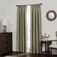 Emery 108-Inch Rod Pocket Insulated Total Blackout Window Curtain Panel in Smoke