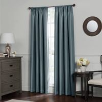 Emery 63-Inch Rod Pocket Insulated Total Blackout Window Curtain Panel in Blue Haze