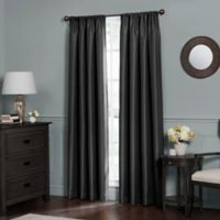 Emery 63-Inch Rod Pocket Insulated Total Blackout Window Curtain Panel in Black