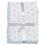 Sterling Baby Owl Receiving Blanket in White/Blue