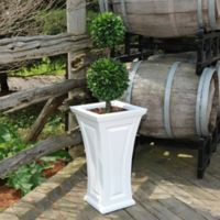 Mayne Cambridge 28-Inch Tall Planter in White
