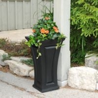 Mayne Cambridge 28-Inch Tall Planter in Black