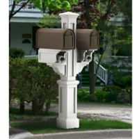 Mayne Rockport Double Mail Post in White