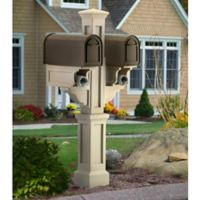 Mayne Rockport Double Mail Post in Clay