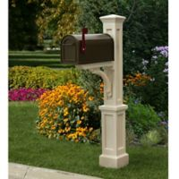 Mayne Newport Plus Mail Post in Clay